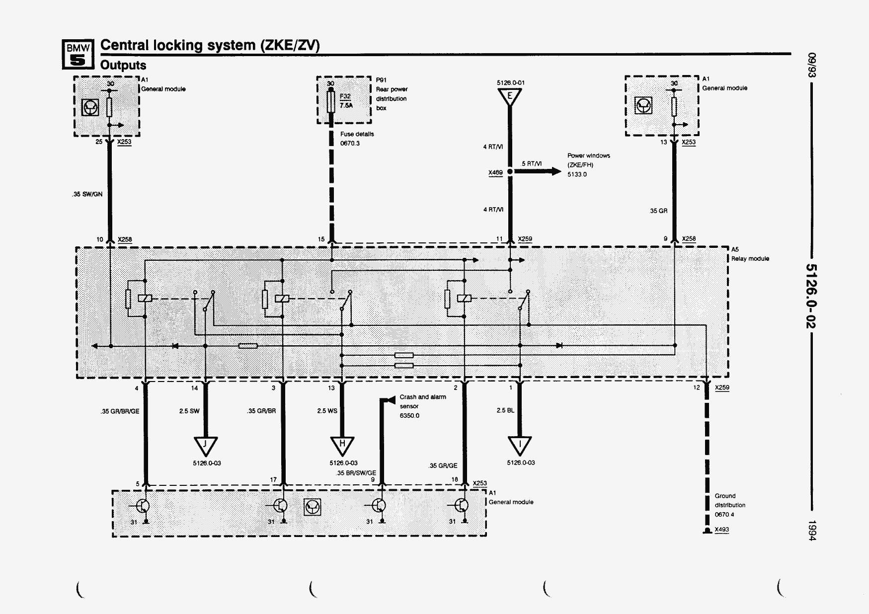 Схема на центральный замок на bmw